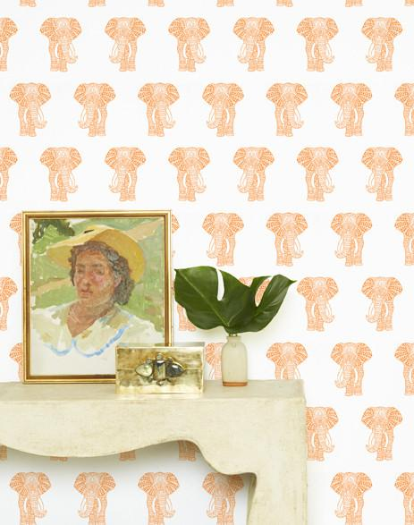 Raja the Elephant Wallpaper - Pushpop - Wallshoppe