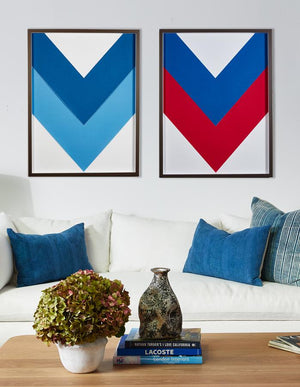 Artshoppe Red White and Blue Chevron