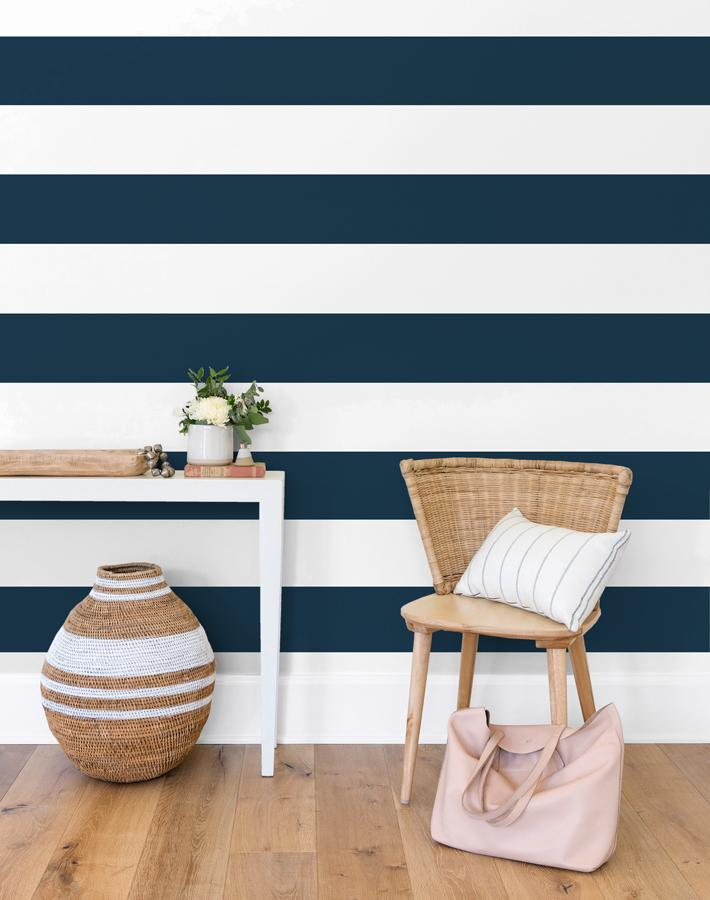 Rugby Stripe by Sugar Paper - Navy - Wallshoppe