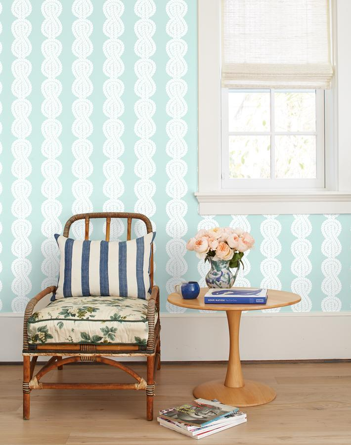 Sailor Knot Seafoam  Wallpaper
