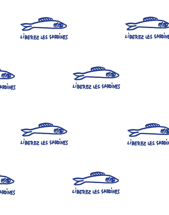 Sardines Blue  Wallpaper