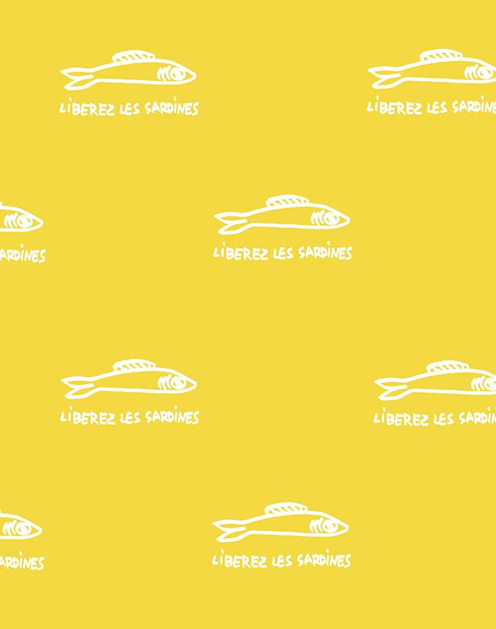 Sardines Yellow  Wallpaper