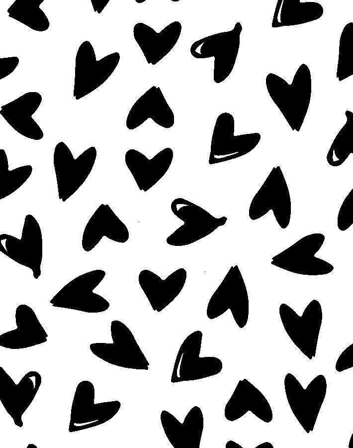 Hearts by Sugar Paper - Black on White