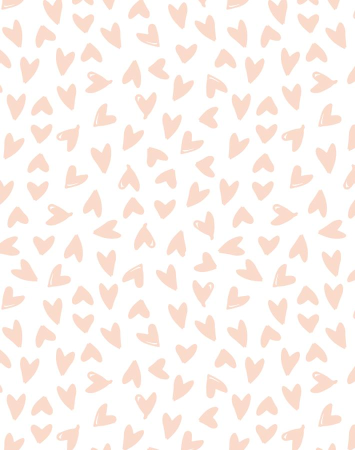 Hearts Pink On White  Wallpaper