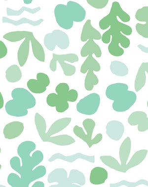 Sea Garden Small Seafoam  Wallpaper