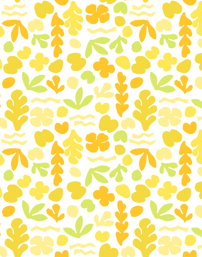 Sea Garden Small Yellow  Wallpaper