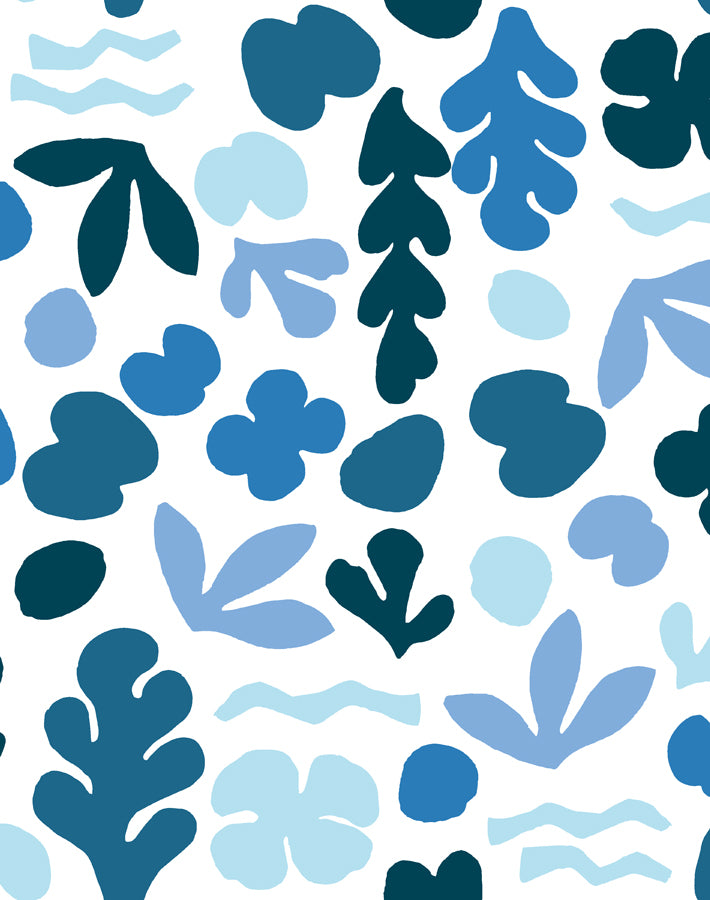 Sea Garden Blue  Wallpaper