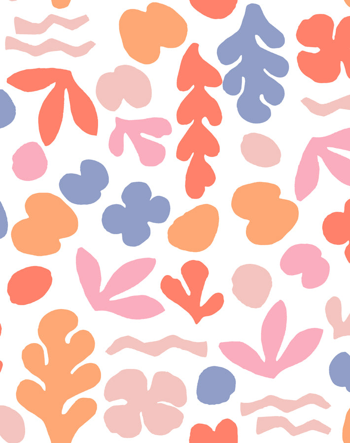 Sea Garden Coral And Pink  Wallpaper