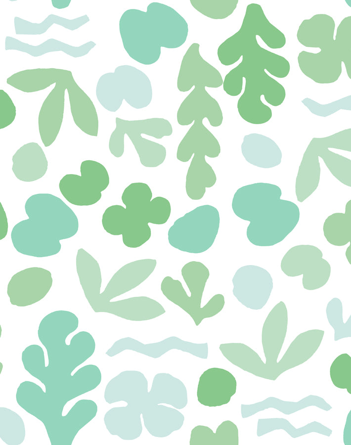 Sea Garden Seafoam  Wallpaper