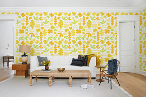 Sea Garden Yellow  Wallpaper