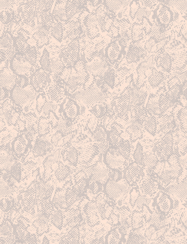 Serpentine - peach on clay wallpaper roll - Wallshoppe