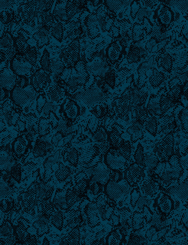 Serpentine - indigo / deep sea wallpaper roll - Wallshoppe