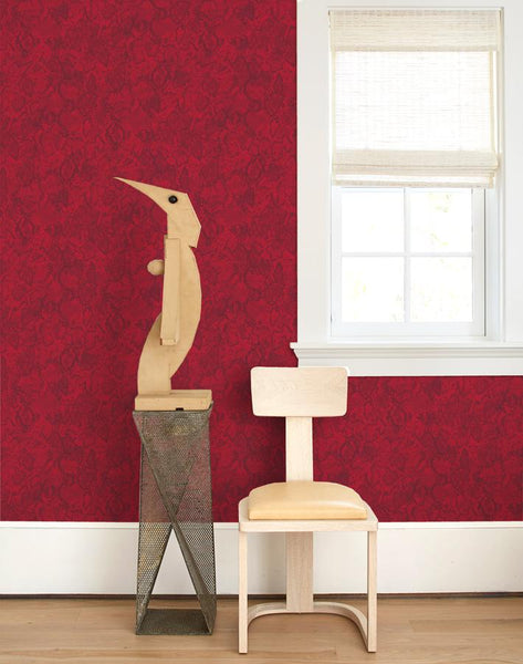 Serpentine Wallpaper - Garnet - Wallshoppe
