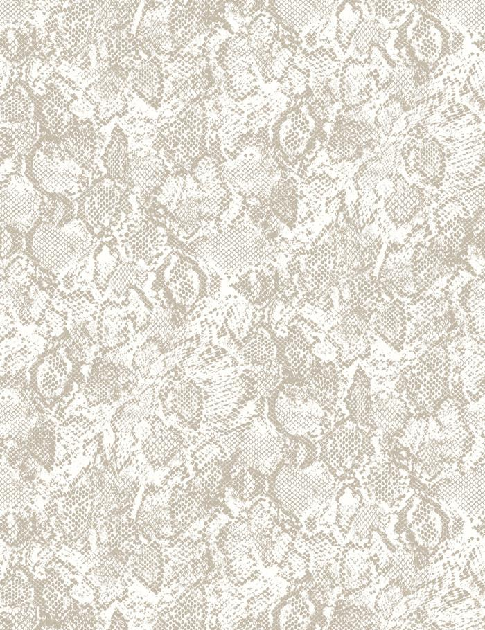 Serpentine Chocolate On Ivory  Wallpaper