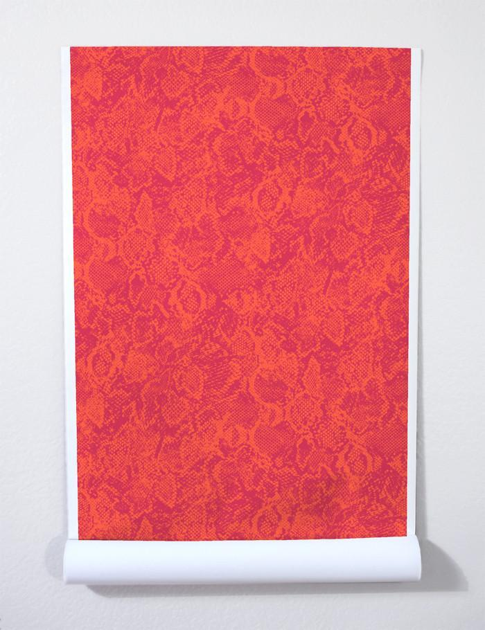 Serpentine Persimmon Ruby  Wallpaper