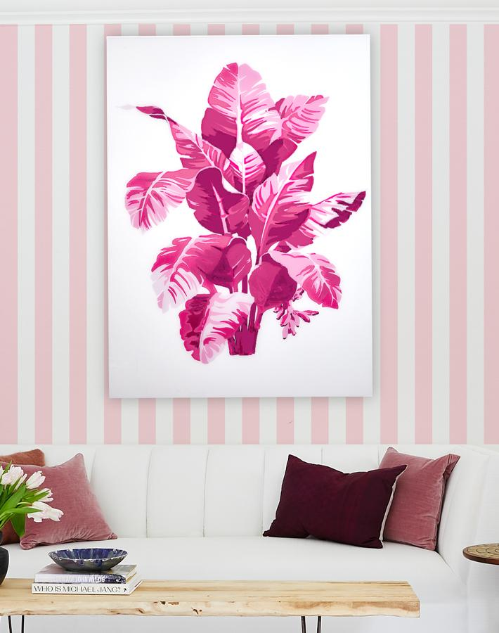 Artshoppe Shades of Pink Palm Small on Acrylic