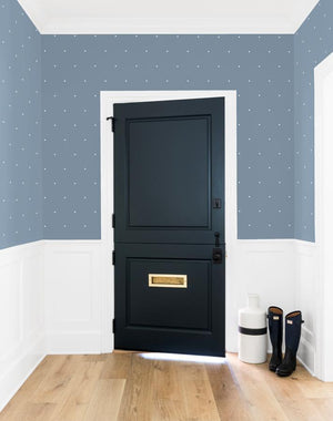 Signature Dot French Blue  Wallpaper