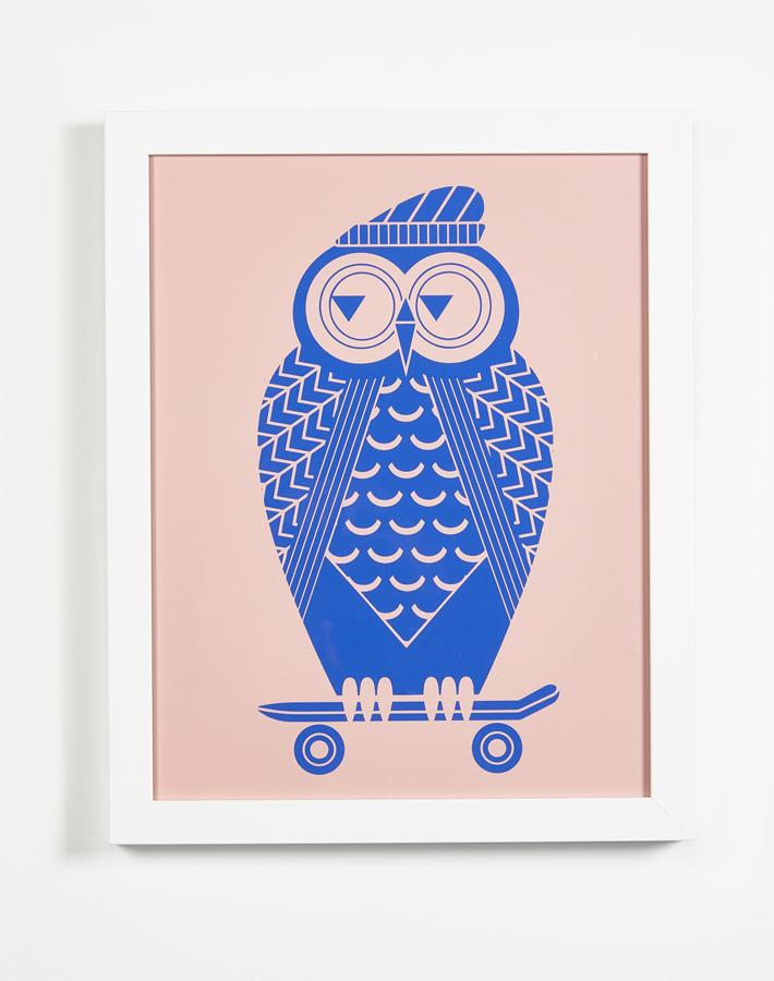 Artshoppe Skate Owl by Tea Collection
