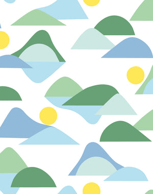 Slopes Green  Wallpaper