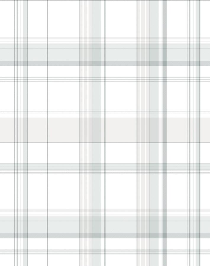 Sofia Plaid Fog  Wallpaper