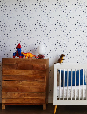 star wallpaper navy on white