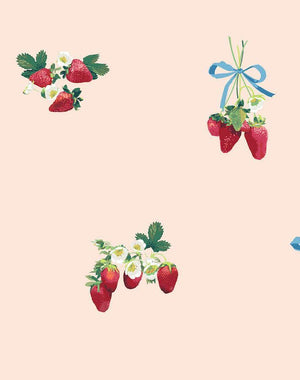 Strawberry Is My Jam Wallpaper Roll - Peach [SALE]