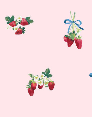 Strawberry Is My Jam Pink  Wallpaper