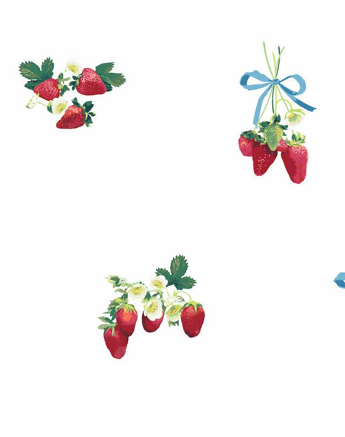 Strawberry Is My Jam White  Wallpaper