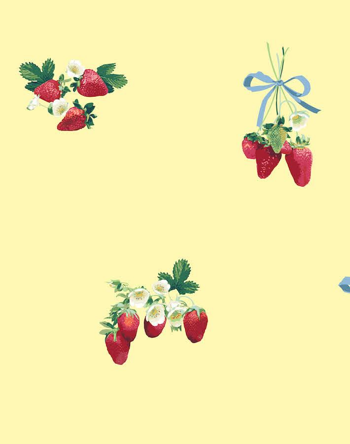 Strawberry Is My Jam Yellow  Wallpaper