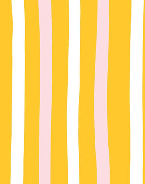 Stripes Marigold  Wallpaper