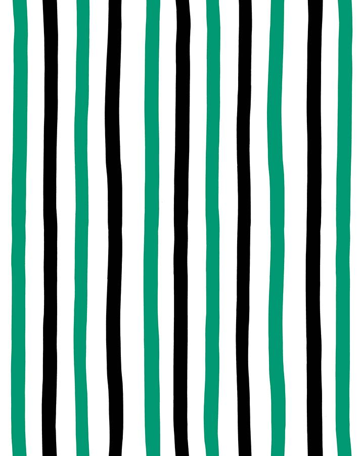 Stripes Emerald  Wallpaper