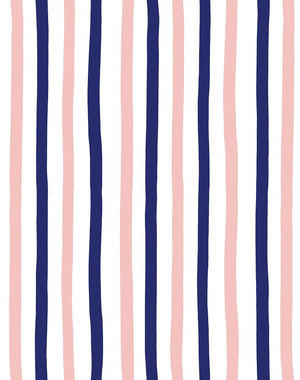 Stripes Navy  Wallpaper
