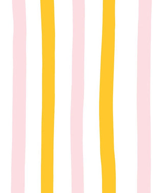 Stripes Shell Marigold  Wallpaper