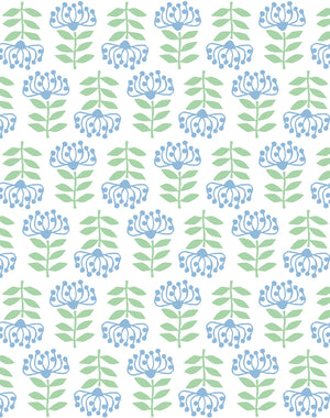 Stylized Papyrus Cornflower  Wallpaper