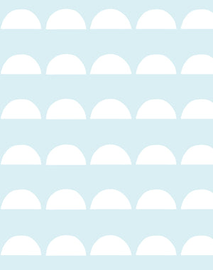 Sun Tile Pale Blue Wallpaper