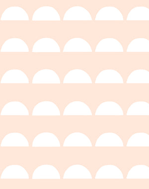 Sun Tile Peach Wallpaper