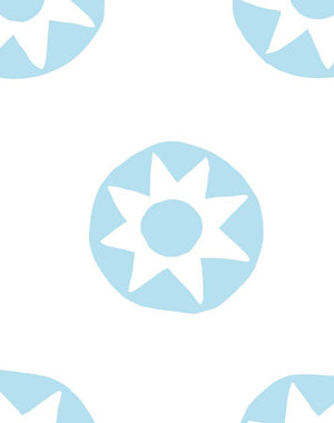 Sun Dial Baby Blue  Wallpaper