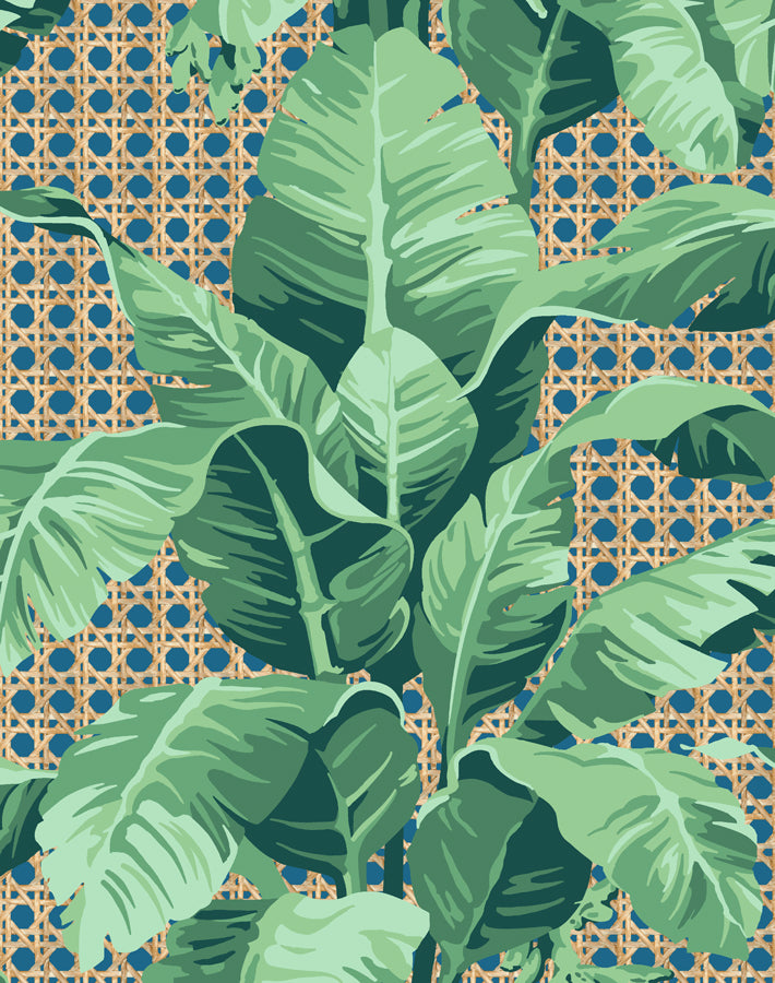 Sunnylands Palm Cadet Blue Wallpaper