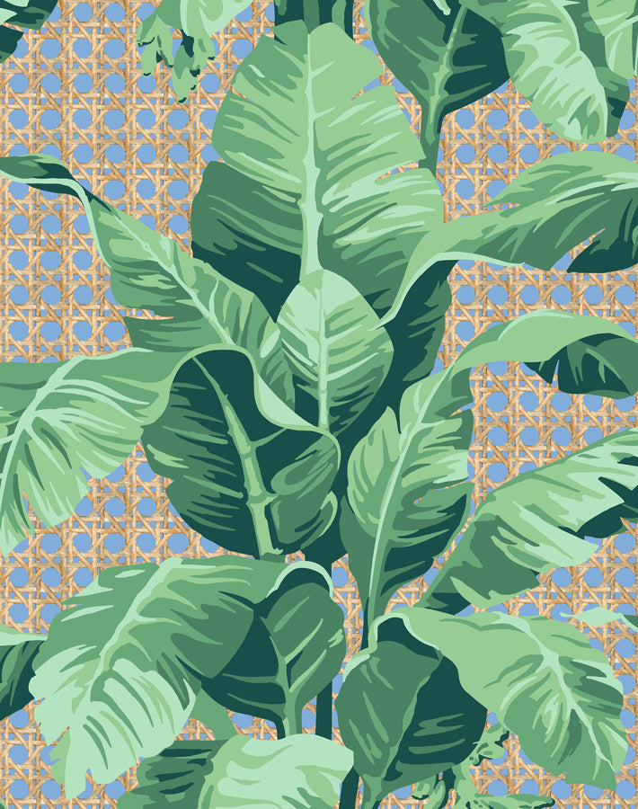Sunnylands Palm Denim  Wallpaper