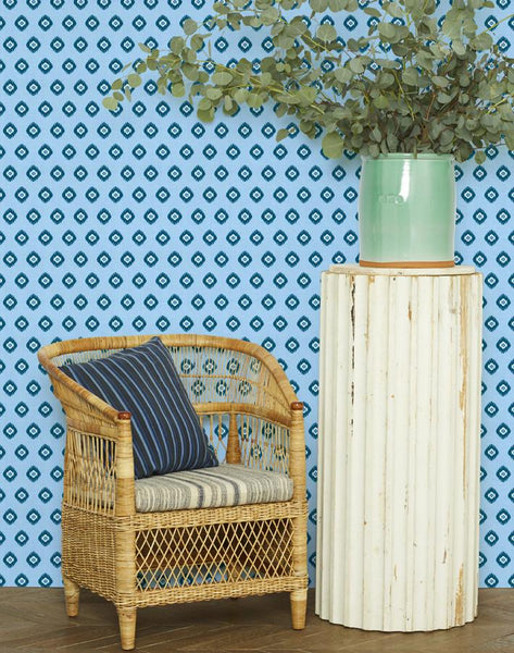Tangier Medallion Wallpaper - Cornflower - Wallshoppe