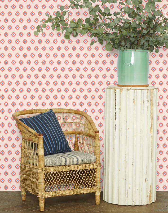 Tangier Medallion Wallpaper - Peach