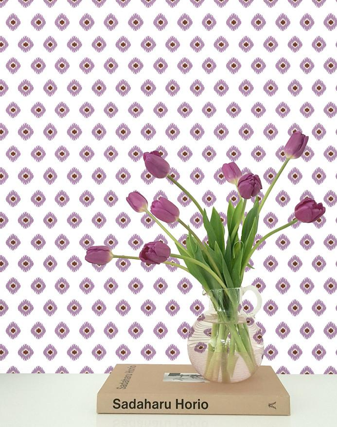 Tangier Medallion Wallpaper - Plum