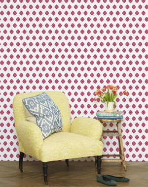 Tangier Medallion Rose  Wallpaper