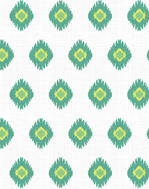 Tangier Medallion Green  Wallpaper