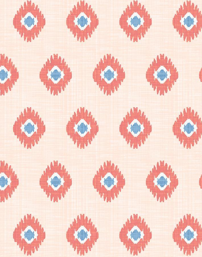 Tangier Medallion Peach Wallpaper