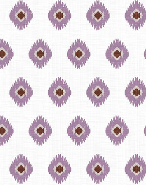 Tangier Medallion Plum  Wallpaper