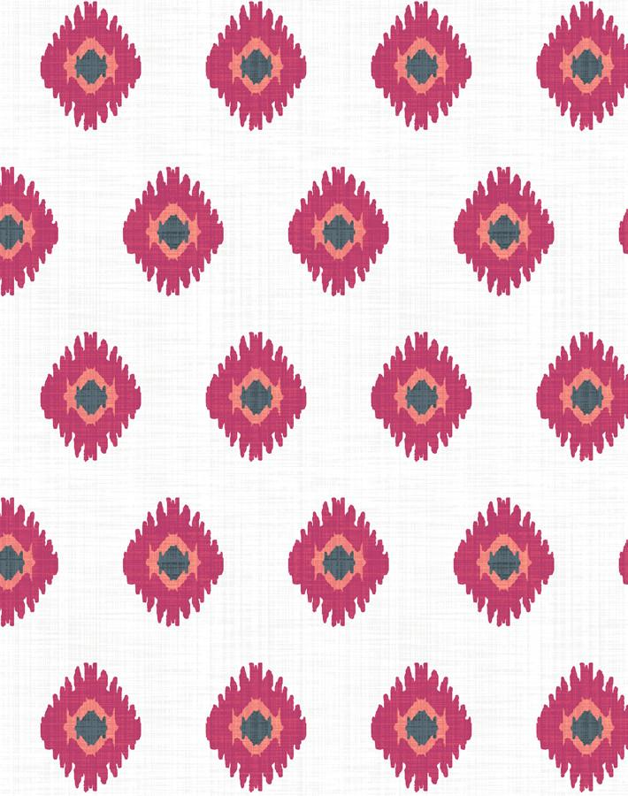 Tangier Medallion Wallpaper - Rose