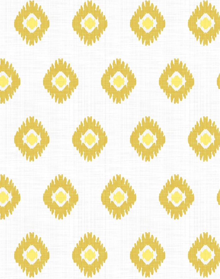 Tangier Medallion Removable Wallpaper - Yellow