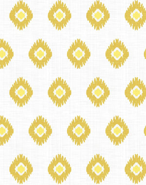 Tangier Medallion Yellow  Wallpaper