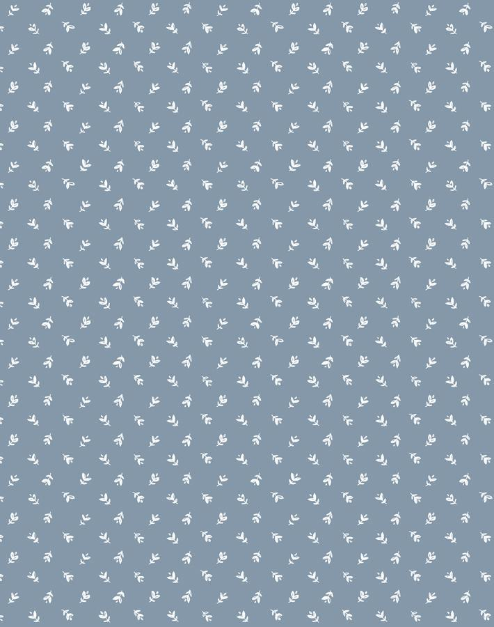 Teensy Floral Wallpaper Roll - French Blue [SALE]
